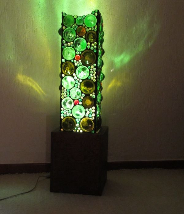 Bottle Bottom Floor Lamp